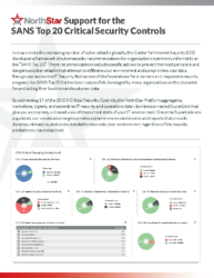 NorthStar Support for SANS Top 20 Critical Security Controls