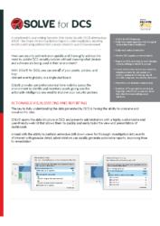 SOLVE for DCS Data Sheet